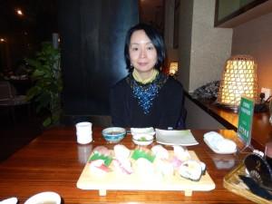 誕生日に日本料理に舌鼓
